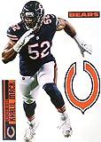 FATHEAD Khalil Mack Chicago Bears Logo Set Official NFL Vinyl Wall Graphics 17' INCH