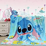 """Sviuse Baby Blanket Kids Cartoon Plush Soft Warm Print Blanket,59"""" x 79"""" Blanket for Bed Couch Chair Fall Winter Spring Living Room (59x79 Inch, Stitch)"""
