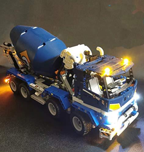 LED Lighting Kit for Lego Technic Concrete Mixer Truck 42112 (Lego Set not Included)