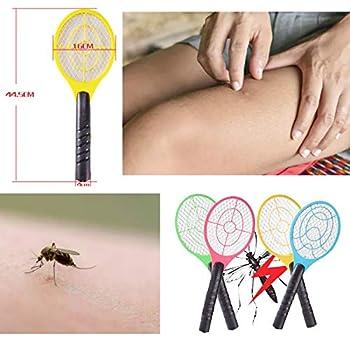 Yizemay Raquette Anti-moustiques Electrique, Fonctionnement sur Batterie Portable pour Le Camping de Voyage Intérieur en Plein Air