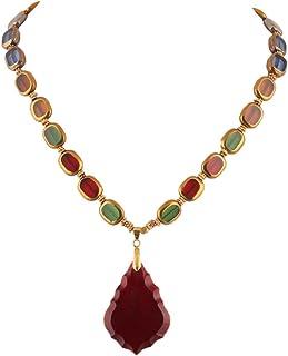 DCA Glass Women Necklace Multicolor (4362)