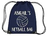 Edward Sinclair - Bolsa de Netball personalizable con nombre para gimnasio, PE/Drawsting, color Azul, talla Talla única