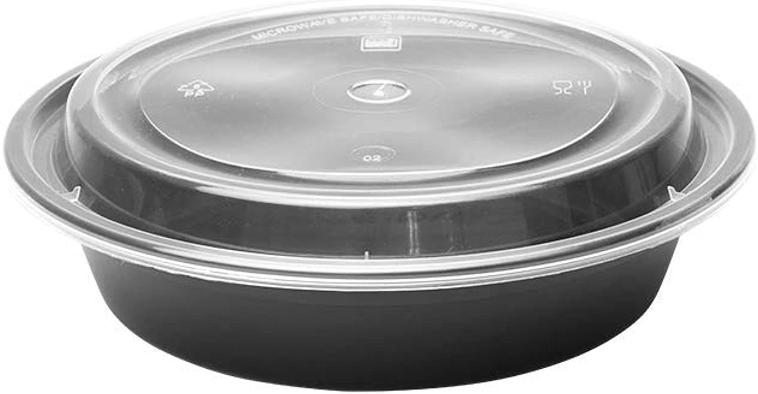 Karat IM-FC4024B 24 oz Microwavable Containers & Lids (Case of 150)