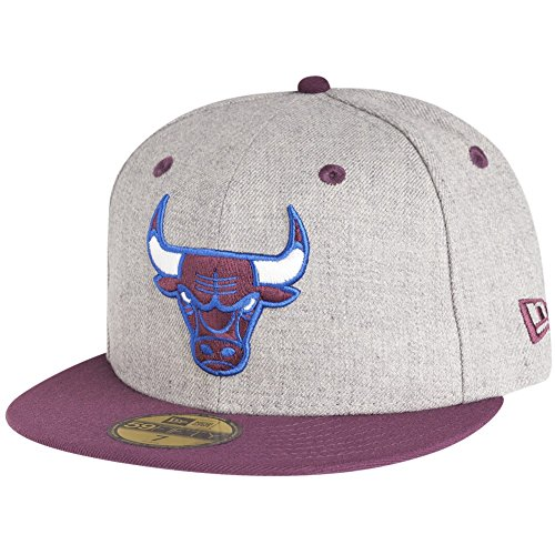 New Era Chicago Bulls NBA Heather Contrast 59fifty 5950 Fitted Cap Basecap Kappe Men