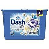 Dash 2en1 Perles Lessive en Capsules Fleurs de Lotus & Lys 19Lavages - Lot de 2