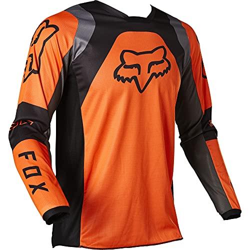 Fox Racing Herren 180 LUX Motocross Jersey Trikot, Fluoreszierendes Orange, Large
