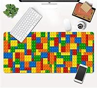マウスパッド 美学キューブブロックパターンゲームマウスパッドゲーミングマウスパッド大型デスクマット滑り止めラバーベースマウスパッド-(D)70X30X0.3Cm