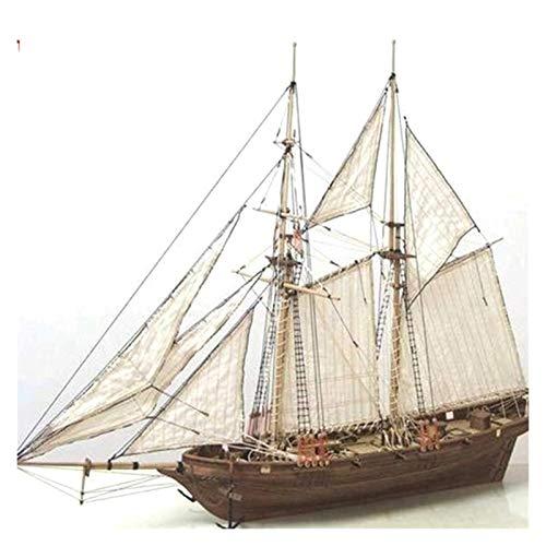 WMY 1 Juego de Kits de construcción de Montaje, Modelo de Barco, Juguetes de velero de Madera, Modelo de Vela, Kit de Madera ensamblado, Manualidades de Madera