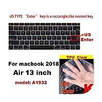 for Apple for Macbook pro 13 / 11Air 13/15 Retina 12 Inch AllシリーズキーボードカバーケースシリカゲルTPUクリアプロテクターフィルムEU/USバージョン-K-