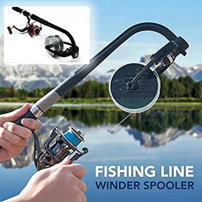 Fishing Line Winder, Reel Spooler Machine Spinning Reel Spool Spooling Station System Fishing Tackle Sea Carp Fishing Tools and Accessories,26×16cm