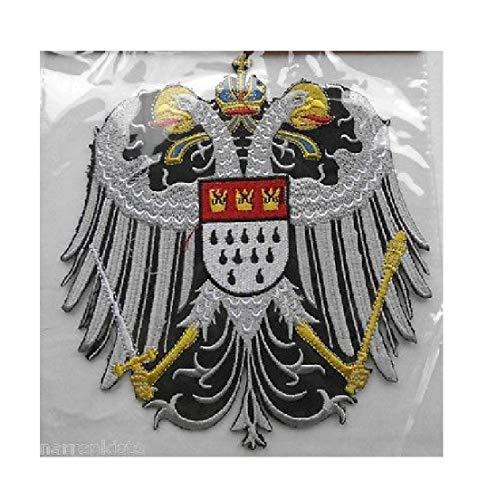 narrenkiste Ma22401 schwarz-weiß Köln Wappen-Adler Bügelbild