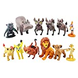 12 Pcs/Set The Lion King Action Figures Toys 1.4'~2.1' Tales of Mufasa & Simba Perfect The Lion King Cake Topper Decorations Toy Set