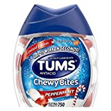 Peppermint Tums Antacid Chewy Bites, Limited Edition Peppermint, 60 Chewable Tablets (Pack of 2)