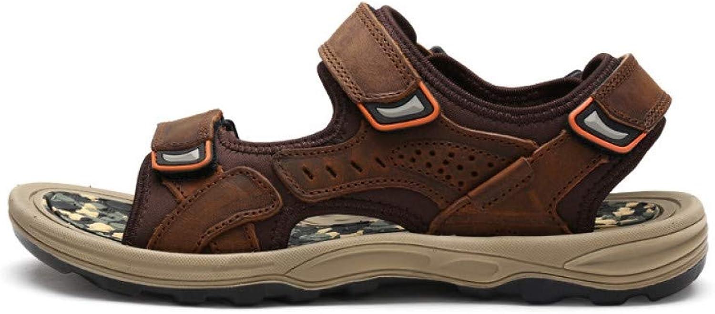 Tanxianlu Men'S Sandals Rubber Soles Non-Slip Outdoor shoes Male Flat Sandal Brown