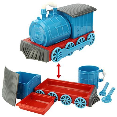 KidsFunwares Chew-Chew Train Kids Dinnerware Set with Utensils, Blue