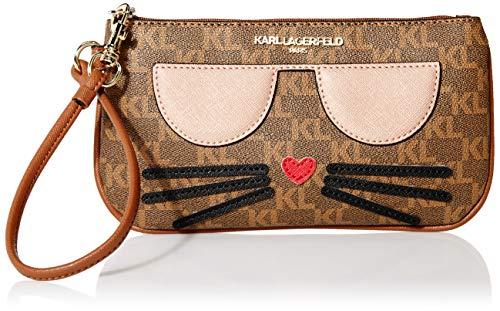 Karl Lagerfeld Paris Damen CHOUPETTE SM WRISTLET Armband, Braun/Khaki, Einheitsgröße