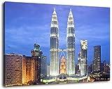 Petronas Towers Kuala Lumpur bei Nacht Format:60x40 cm Bild