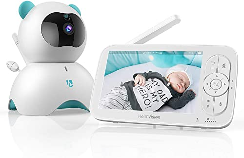"""HeimVision HM136 Video Baby Monitor, 5"""" LCD Display, 720P HD, Two-Way Audio, Temperature & Sound Alarm, Security Camera with 110° Wide Angle, Night Vision, Up to 1000ft of Range product image"""