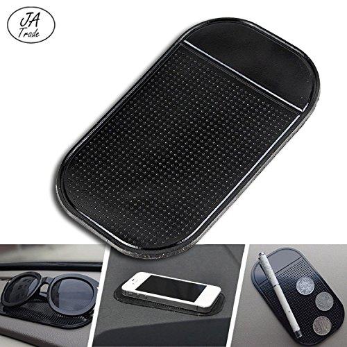 JATrade Handy Smartphone Auto Halterung Premium Antirutschmatte mit starker Haftung KlebeMatte Haftmatte Armaturenbrett Kompatibel mit iPhone, Galaxy u. Anderen Smartphones - Schwarz