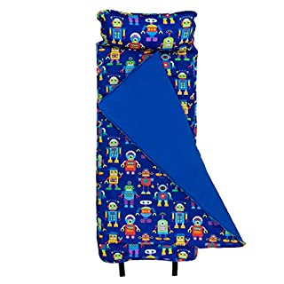 Wildkin Original Nap Mat with Pillow for Toddler Boys and Girls, Ideal for Daycare and Preschool, Measures 50 x 1.5 x 20 Inches, Mom's Choice Award Winner, BPA-Free, Olive Kids (Robots) (B004NWJ1U6) | Amazon price tracker / tracking, Amazon price history charts, Amazon price watches, Amazon price drop alerts