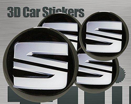 Think Ink 3D Aufkleber 4 STK. Logo Imitation Alle Größen Mittelkappen Radkappen (60 mm)
