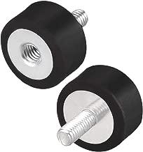uxcell M4 Thread Male Female Rubber Mounts,Vibration Isolators,Shock Absorber 15mm x 8mm Black 2pcs