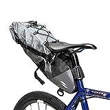 Liuxiaomiao Fahrradsatteltasche Wasserdichter, großer Rücksitz-Fahrradrucksack für Rennrad, grau Geeignet für MBT- oder Rennradsitze (Color : Gray, Size : 40 * 14.5 * 11.5)