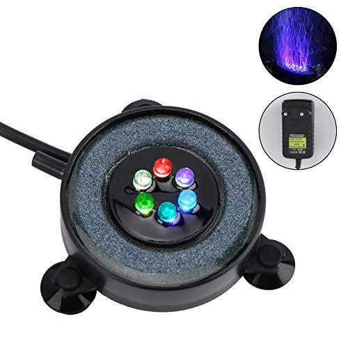 YOUTHINK Aquarium Bubble Light, Aquarium Air Stone LED Tauchaquarium Bubble Light Adsorbierbare bunte Unterwasserblasenlampe mit 6 LED-Leuchten & EU-Stecker für die Dekoration von Aquarienfischteichen