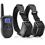 Dog Shock Collars for 2 Dogs With Remote, Rechargeable Dog Training Collar With Vibration Shock Beep Modes, Waterproof Ecollar Dog Training Collar With 1000ft Range, Shock Collar For Small, Large Dogs