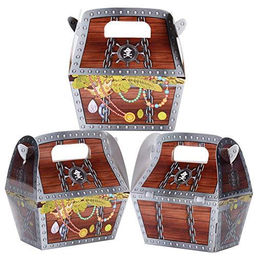 MEJOSER 30pcs Cajas de Cartón Cajas Piratas Caramelos Regalos 10 x 6 x 10,5cm Decoración Fiesta Cumpleaños
