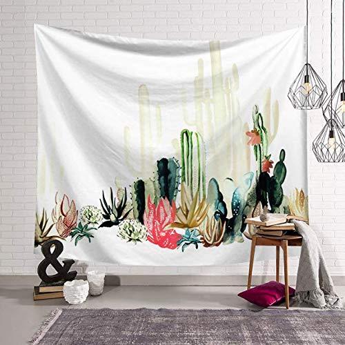Cactus Tapisserie Tenture murale Plante Verte Tapisserie Grandes Couvertures En Tissu Décor Tapis De Yoga Tente De Plage 150 * 200 Cm