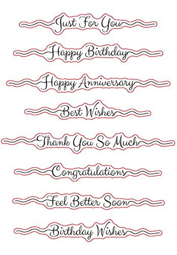 Sentiments Happy Birthday Just for You Best Wishes Thank You Congratulations Clear Stamps for Card Making Decoration and DIY Scrapbooking