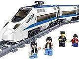 Knoijijuo Bloques, Módulos De Carga De Trenes Terminal De Velocidad, Tren Eléctrico, 415 Bloques, Rieles Y Accesorios De Fácil Acceso, Fácil