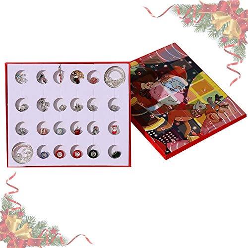 Anyingkai Calendario de Adviento de Navidad,Calendario de Adviento de Maquillaje,Calendario de Adviento Belleza,Countdown Calendar,Calendario de Adviento para Mujer (Plata)