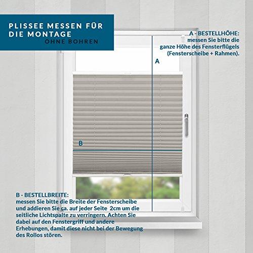 Plissee Grau HOME-VISION - 9