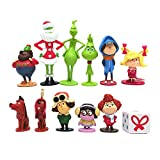 12pcs Deen Grinch Monster Doll Toys, PVC Model Cake Topper Action Figure Chrismas Decoration, Xmas Kids Gifts, Winter Christmas Holiday Home Decor Party Supplies Traditional Ornament.