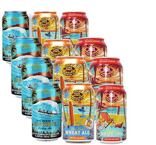Dose Kona-Brewing-Mega-Pack - 4x3 Biere aus Hawaii 12x0,355l inc. 3.00€ EINWEG Pfand
