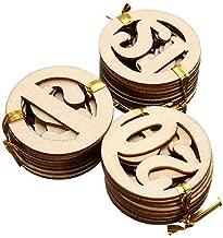 ZAMTAC DIY Handicraft Wood NO.1-NO.31 Round Shape Numbers Wooden Veneer Wood Chipboard Scrapbooking Embellishment DIY Craft