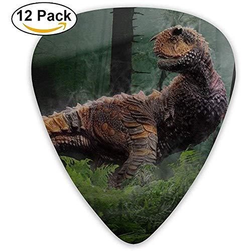 Sherly Yard Animal Dinosaur Extinction Púas de guitarra personalizadas para el mejor obturador acústico eléctrico (paquete de 12)