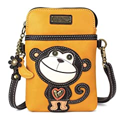 "WOMEN CROSSBODY HANDBAG WITH TWO STRAPS INCLUDED: Two separate Straps are included to allow many different Crossbody configurations. CrossBody Cell Phone Handbag, or Cell Phone Purse, or Cell Phone Clutch. OUTSIDE MEASUREMENTS: 7"" Tall X 5"" Wide. Str..."