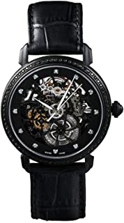 Heli Reymond - Reloj suizo automático esqueleto para mujer Divine Line D9014LD caja negra