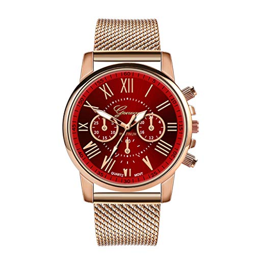 ღ Brisk-Fairy Damen Uhren Ultra Dünne Schwarze Minimalistische Quartz mit Datumsanzeige und Metall Armband mit Edelstahl Armband mit kleine Sekundenanzeige