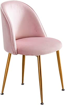 Chair - Modern Furniture Dining Chair with Velvet Padded Seat Backrests for Living Room Bedroom Lounge and Reception Room