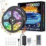 Tira LED 10M, VITCOCO Bluetooth Tiras de Luces LED 5050 RGB 300 LEDs, Ser Controlado Por APP, Sincronización de música, Remoto...