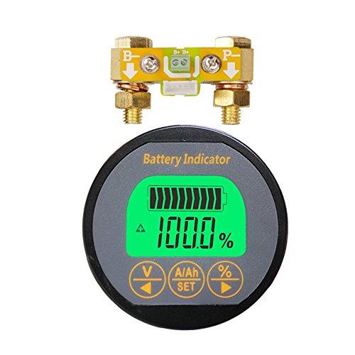 AILI Voltmeter Ammeter Spannung, 350m–80V für Wohnwagen RV Motorhome 999Lithium-Eisen-Blei-Säure-AH