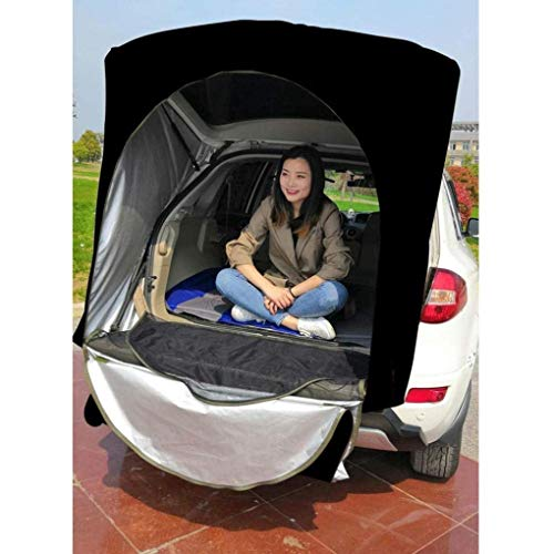 RONGJJ Khaki black camouflage is only for SUV car rear roof outdoor equipment camping tent canopy easy folding -no stand bar