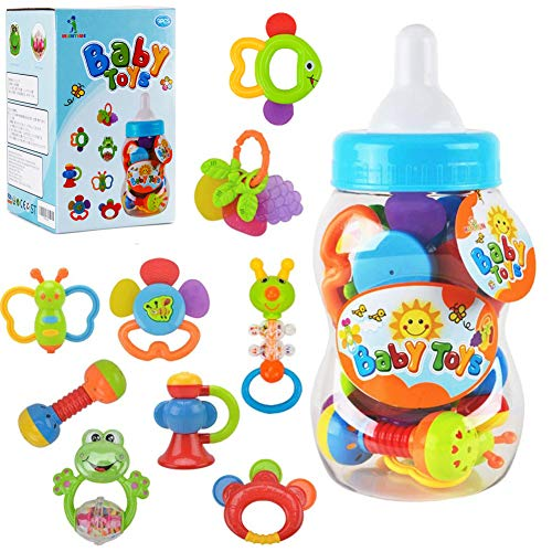 WISHTIME Baby rattles teethers for...