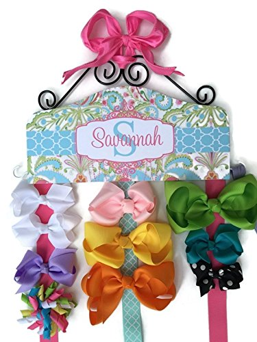 Personalized Hair Bow Holder - Made to Match bedroom decor or bedding. Headband Holder