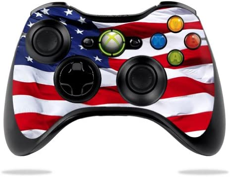 MightySkins Skin Compatible with Microsoft Xbox 360 Controller American Flag Protective Durable product image