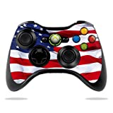 MightySkins Skin Compatible with Microsoft Xbox 360 Controller - American Flag | Protective, Durable, and Unique Vinyl Decal wrap Cover | Easy to Apply, Remove, and Change Styles | Made in The USA
